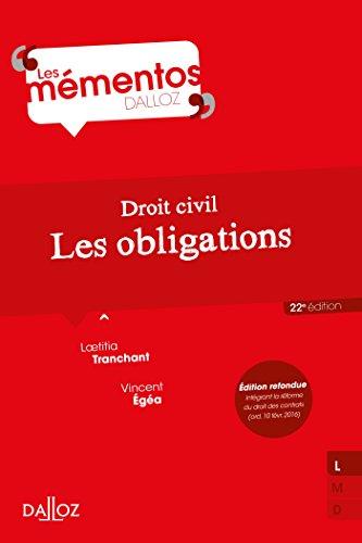 Droit civil. Les obligations (Mémentos)
