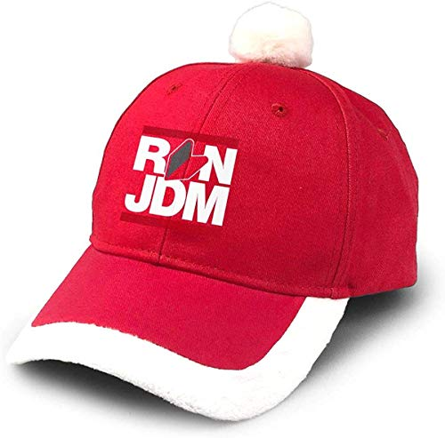 GGdjst Weihnachtsmützen, Run JDM Japanese Car Christmas Hats Red Santa Baseball Cap for Kids Adult Families Celebrate New Year Party