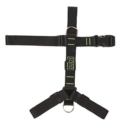 bub's Not Pull - arnés para Perro Grande/Mediano Sistema Anti tirón (Comprobar tamaño: Cuello 43 a 74 cm Pecho 59 a 94 cm) Color Negro