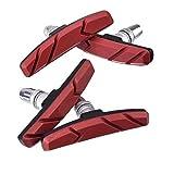 Pastillas de freno SCHUCK, componentes de freno en V para bicicletas, utilizadas para frenos lineales roscados, antideslizantes y sin ruido, 70 mm