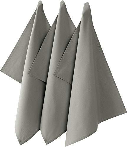 REDBEST Geschirrtuch'Seattle' 3er-Pack Baumwolle grau Größe 50x70 cm