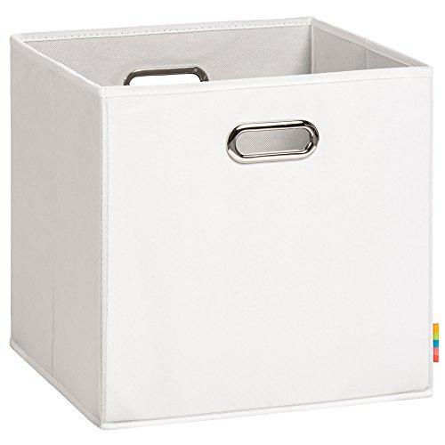 Schmetsdorf | Aufbewahrungsbox LEA | Faltbox | Korb | 33x33x33 cm | Weiß