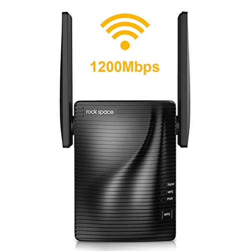 WiFi Range Extender-2.4 & 5GHz Dual Band Wireless Repeater,1292 sq.ft Wirerless Range & Up to 1186Mbps High Speed, WPS One...