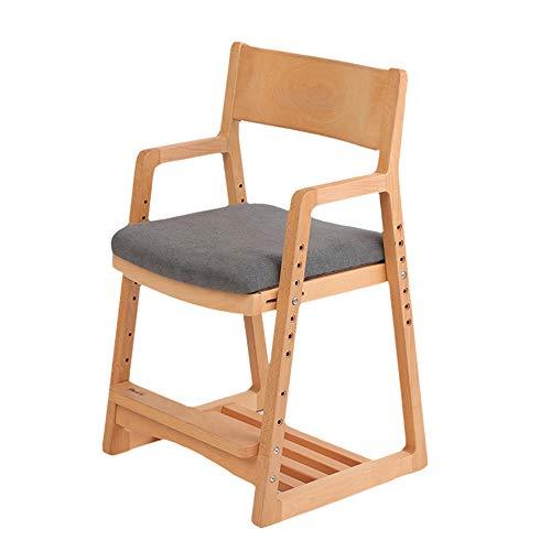 Silla de aprendizaje para niños Mesa y silla de comedor de estilo japonés Silla de oficina de madera maciza Silla de comedor de cocina doméstica resistente al desgaste Muebles de sala 77.5*46*42.5cm