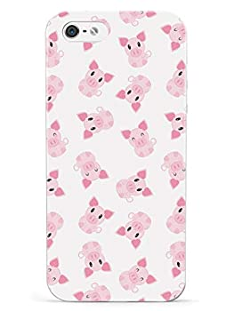Inspired Cases - 3D Textured iPhone 5/5s/5SE Case - Rubber Bumper Cover - Protective Phone Case for Apple iPhone 5/5s/5SE - Piggie Pattern - Pig