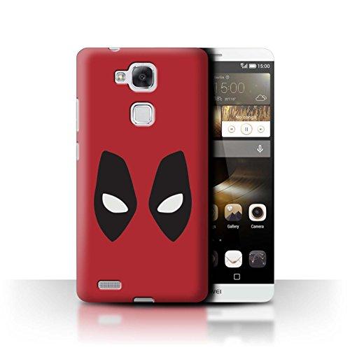 Hülle Für Huawei Ascend Mate7 Superheld Comic-Kunst Deadpool Maske Inspiriert Design Transparent Ultra Dünn Klar Hart Schutz Handyhülle Case