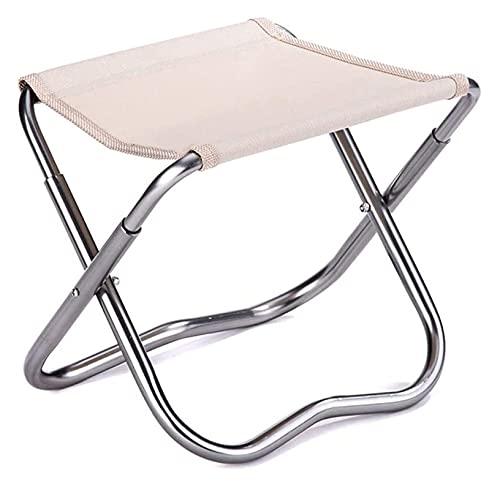 FFAN Taburete reclinable Plegable pequeño para Silla de Camping para Pesca al Aire Libre (Color: Blanco, Tamaño: 23.5x17x20cm) Good Life
