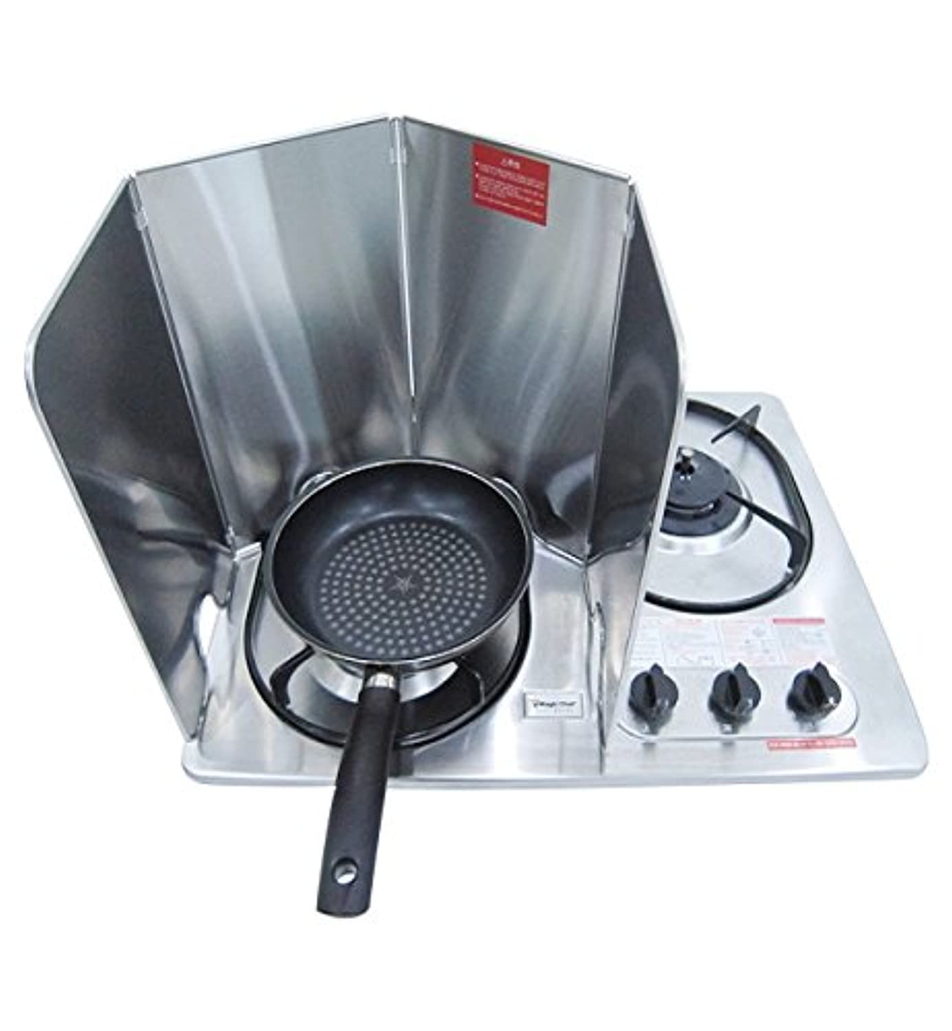BLUE HOME Splatter Guard for Cooking - Grease Splatter Screen - 4 Sided Splatter Guard Compact Type - Stainless Steel - Unfold 29.33 in x 13 in - Fold 7.28 in x 13 in x 0.86 in