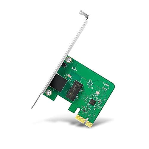 TP-Link TG-3468 - Adaptador WiFi Gigabit PCI Express (10/100/1000 Mbps), Puerto RJ45, control de flujo 802.3x, Wake-on-LAN, 32 bits, Compatible con Windows