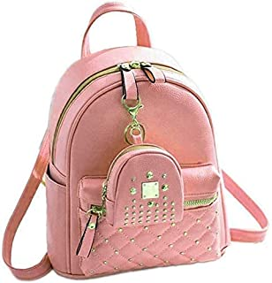 Kausbabi Women's Backpack Pu 5l Peach Bag (Pack of 1)