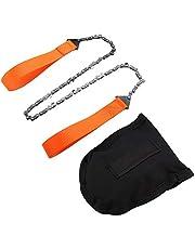 Handgreep kettingzaag Lange ketting Compacte Opvouwbare Handkettingzaag Draagbare Zak kettingzaag Camping Survival-Uitrusting Voor Houtsnijden Kampeerspullen