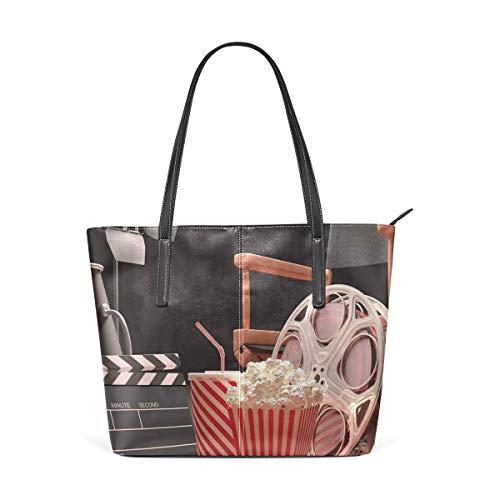 NR Multicolour Fashion Damen Handtaschen Schulterbeutel Umhängetaschen Damentaschen,Gegenstände des Filmindustrie-Hollywood-Filmbild-Kinematographie-Konzeptes