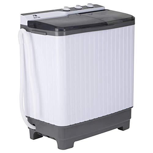 Twin Tub Portable Mini Washing Machine 29lbs Capacity, MUMU New Life Compact Washer(20lbs)&Spiner(9lbs) - Built-in Drain Pump - Semi-Automatic