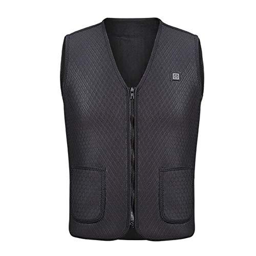Bilgftg Verwarmbaar vest, oplaadbaar, verstelbaar, wasbaar, USB, warm, voor outdoor-activiteiten, jacht, wandelen, voor volwassenen, dames en heren, zonder batterij)