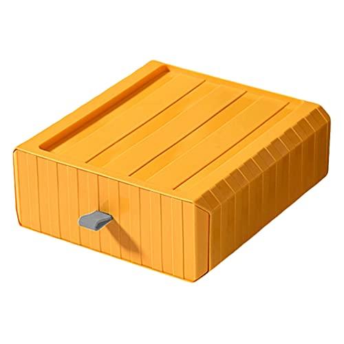 Hemoton Caja de Cajón de Escritorio Apilable Contenedor de Gran Capacidad Caja de Joyería de Varios Productos Cosméticos