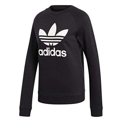 adidas Originals Women's Trefoil Crew, black, Medium Illinois