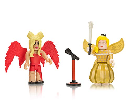 Roblox Celebrity Collection - Royale Highschool: Drama Queen + Fairy World: Golden Tech Fairy Two Figure Bundle [Includes 2 Exclusive Virtual Items]