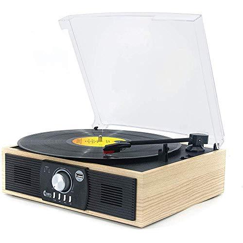 Disco Retro, Reproductor de música con Control Remoto, Reproductor de CD, Dab y FM, Radio Am, Reproductor de Vinilo, Reproductor de casetes, Ranura USB MP3, Pletina de Casete, Func