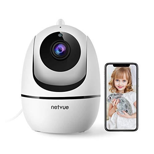 Telecamera di Sorveglianza WiFi, Netvue Telecamera Dome FHD 1080P, Videosorveglianza Wireless, Rilevamento di Movimento Umano, Audio Bidirezionale, Visione Notturna, Zoom 8X, Alexa/Baby/Animal