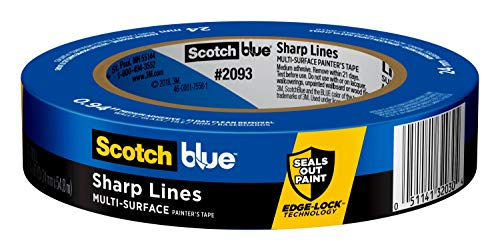 ScotchBlue Sharp Lines Multi-Surface Painter's Tape, .94 inches x 60 yards, 2093, 1 Roll
