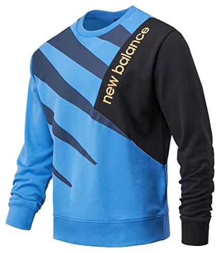 New Balance Athletics Village Fleece Crew Sweatshirt Herren blau/schwarz, M