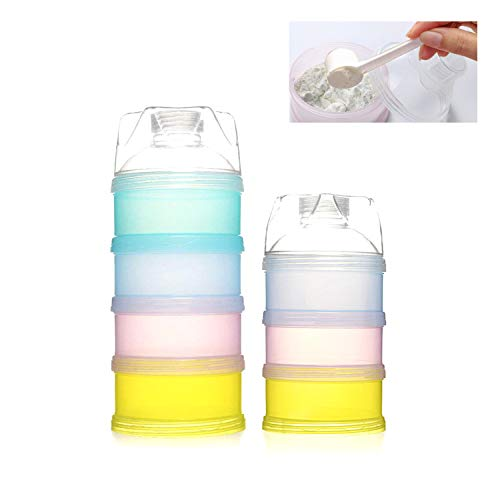 Milchpulver Spender,TANGGER Tragbar Kinder Milchpulver Portionierer Box BPA-freien Luftdichte Lebensmittelvorratsbehälter für Reise im Freien,Tägliche Pflege-2er Pack
