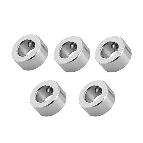 5 Pcs 8mm Shaft Lock Collar T8 Lead Screw Lock Ring Stainless Steel Accessory, for 3D Printer
