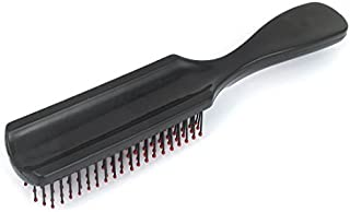 eDealMax plástico ASA de masaje masajeador cepillo de Pelo peine cepillo Para el Pelo Negro