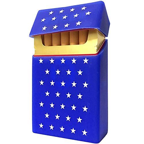 LIXUDECO Humidificador de Cajas de Cigarrillos de Silicona portátiles Suaves para 20 Accesorios de Cigarrillos Caja de Cigarrillos Gadgets para Hombres Regalo Tabaco Caja de Tabaco Caja de Tabaco