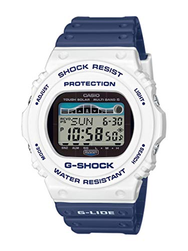 CASIO Herren Digital Quarz Uhr mit Resin Armband GWX-5700SS-7ER