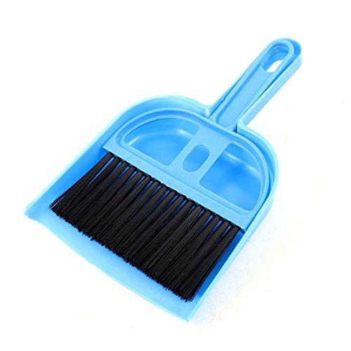 Kcopo Handfeger Kehrset Kehrgarnitur Tool Buero Hause Kfz-Reinigung Mini Schneebesen Besen Kehrschaufel Blau