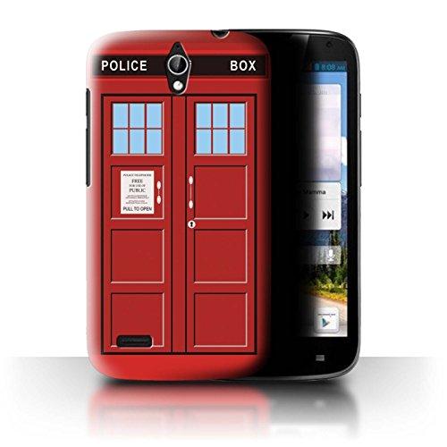 Hülle Für Huawei Ascend G610 Tardis Handyzelle Kunst Rot Design Transparent Ultra Dünn Klar Hart Schutz Handyhülle Hülle