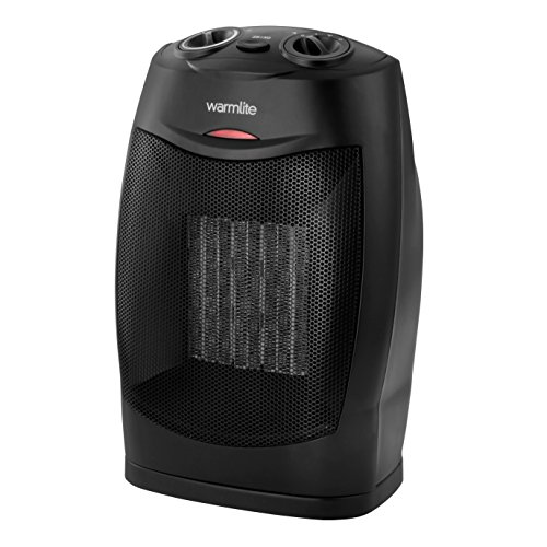 Warmlite Ceramic Fan Heater with Adjustable Thermostat, PTC Heating...