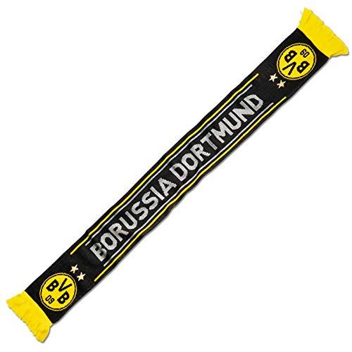 Borussia Dortmund, BVB-Schal schwarz, Schwarz, 0