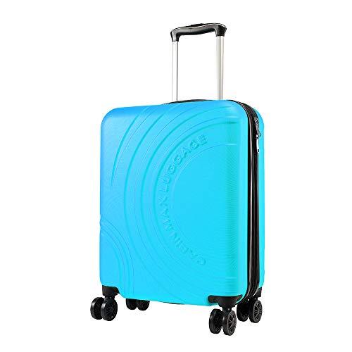 Cabin Max Velocity - Maleta para Equipaje de Cabina Ligera | Trolley de ABS con Ruedas de 55 x 40 x 20 cm Extensible a 55 x 40 x 25 cm Aprobado para Vuelo en Ryanair, EasyJet, BA (Azul Biscay)