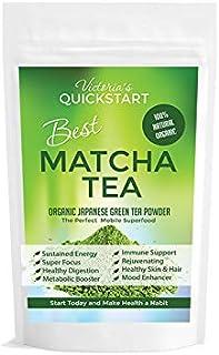 Best Matcha Tea Powder Fat Burner Flow State Energy Mood Brain Food Memory, Focus Paleo Ketogenic Glycemic Diets Antioxida...
