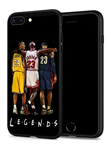 iPhone 7 Plus iPhone 8 Plus Case for Basketball Fans, Soft Silicone Protective Thin Case Compatible with iPhone 7 Plus/iPhone 8 Plus (ONLY) (Legends-Kobe-Jordan-Lebron)
