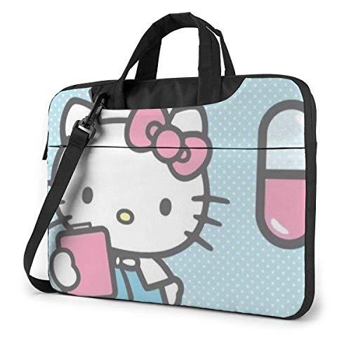Borsa per laptop infermiera Hello Kitty Borsa per busin per uomo donna, borsa per il trasporto della custodia per laptop a spalla Menger - 15,6 pollici