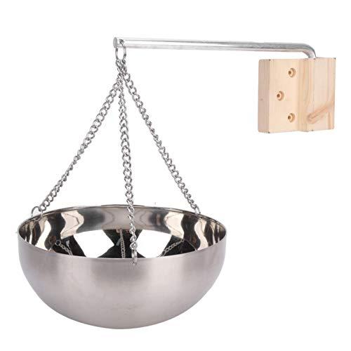 【Kippvorrichtung】: Die ätherische Ölschale ist mit einem Kipphebel ausgestattet, der auf den Heizofen oder den Saunastein gestellt werden kann und je nach Bedarf schwingen kann, was sehr einfach und p