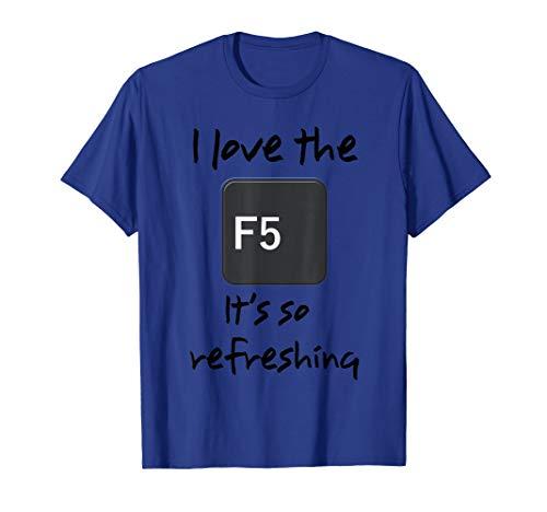 Computer, IT, Tech Support, Geek, F5 Key by River Apparel. T-Shirt