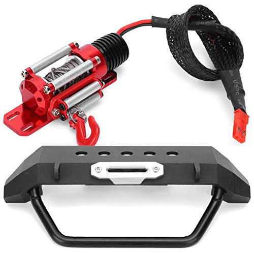 DAUERHAFT Robusto Mini Metal RC Car Winch Manual Aleación de Aluminio Profesional...
