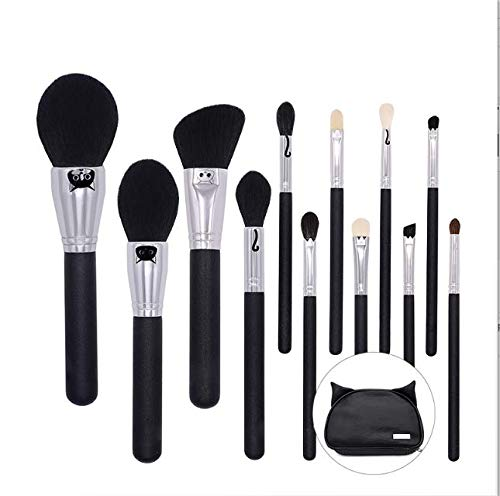 PPMSHUAY Pinceau De Maquillage 12Pieces Pinceaux De Maquillage Cosmétiques Mélange Surligneur Contour Pinceau À Maquillage Synthétique