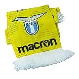 Generico Macron Sciarpa SS Lazio, Prodotto Ufficiale, Leggera, Stadio, Uomo, Donna, Ragazzo. (Gialla_Scritta)