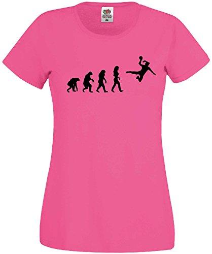 Handball Damen Evolution T-Shirt WM Shirt EM Trikotpink-M