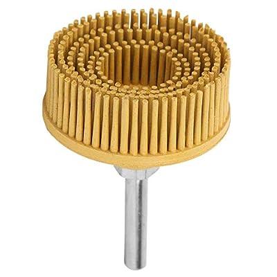 2Inch Bristle Disc Emery Rubber Abrasive Brush Polishing Grinding Wheel for Burr Rust Removal(Yellow 80#)