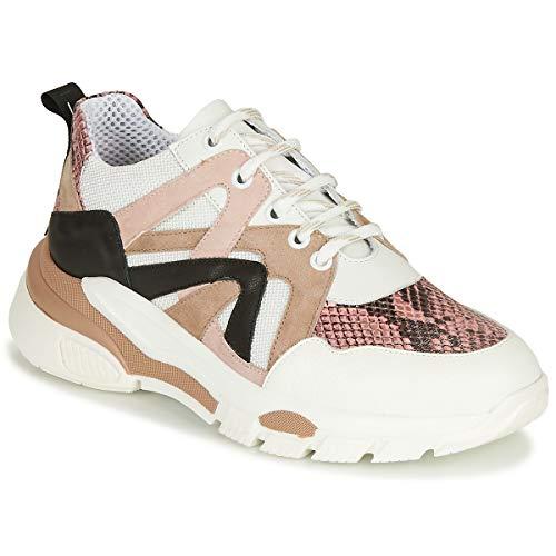 Tosca Blu Magnolia Sneakers Donne Bianco/Beige/Rosa - 41 - Sneakers Basse Shoes