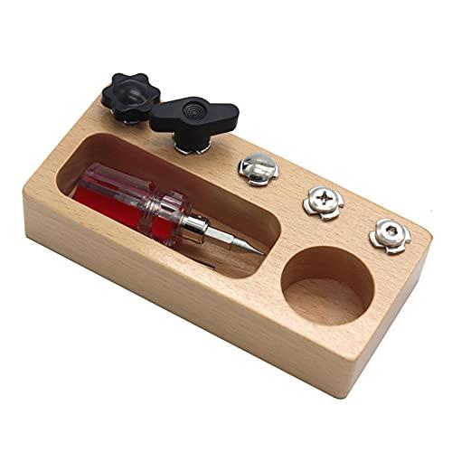 Montessori - Tabla de madera para niños de montessori, juguete educativo, juguete de madera, juguete de actividad, juguete montessori, práctica vida para niños, tornillos de madera