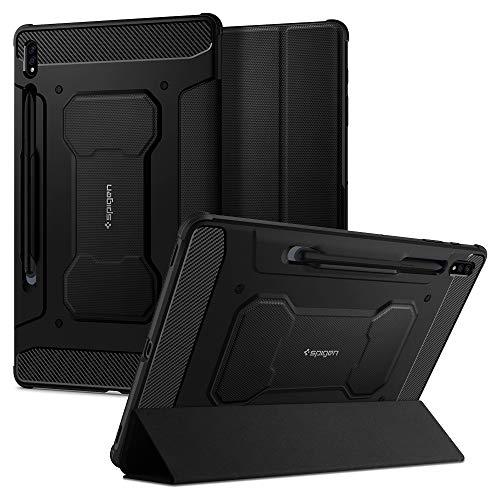 Spigen Rugged Armor Pro Entwickelt für Samsung Galaxy Tab S7 Plus Hülle (2020) - Schwarz
