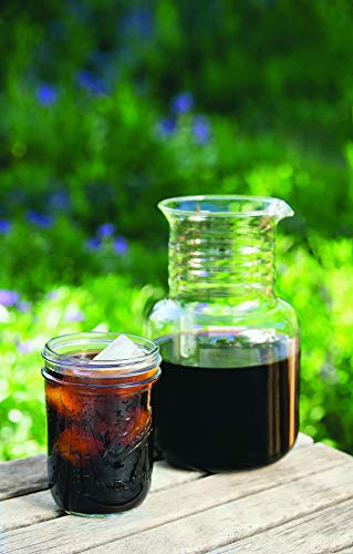 the Toddy and a glass of cold brew coffee outdoors