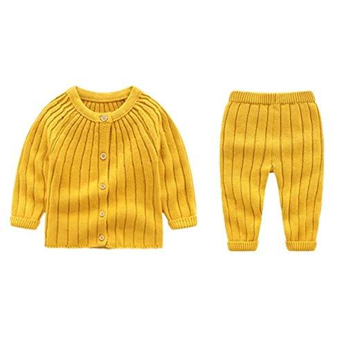 WANGYUEGUANG Herbst Winter Neu Strickanzug Baby JungenMädchen Kleidung Strickpullover Winter Kinderanzug Für Kleinkind Neugeborenes Baby